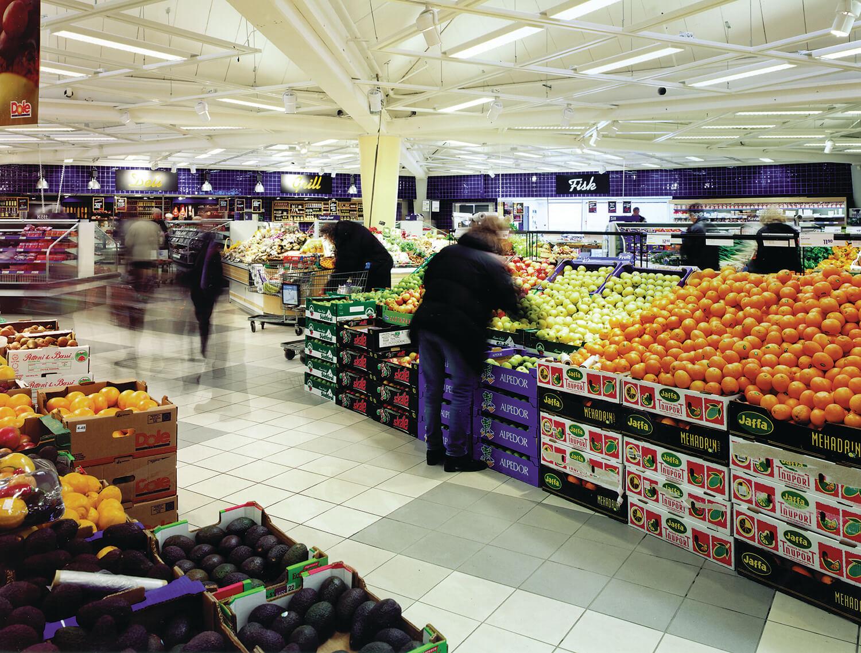 Gietvloeren voor winkels en supermarkten