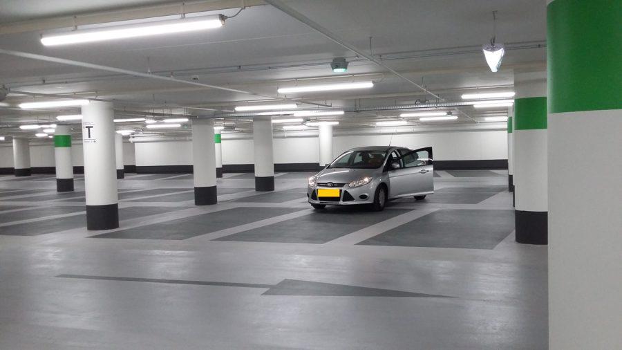Egalisatie parkeergarage vloeren Hoog Catharijne Utrecht