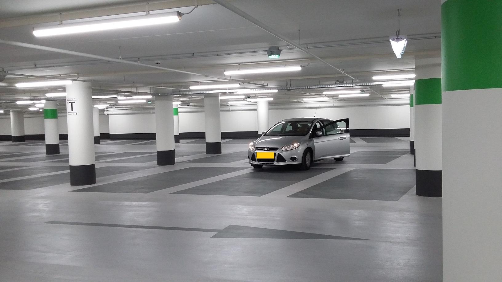 Egalisatie parkeergarage vloeren Hoog Catharijne